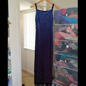 Rampage Velvet Purple maxi dress/gown, like new